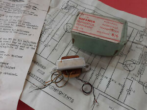 Repanco TT4 Transistor Push-Pull Driver Transformer ~ Miniature ~ New Old Stock