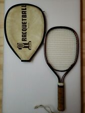 "Vintage 1980's Leach ""Marty Hogan"" Racketball Racket With Cover. In Vg condition"