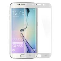 9H Hartglas Samsung S6 Edge Panzer Glas Folie 3D Display Schutz FullCover Weiß