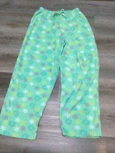 Vanity Fair - Mint - 2 Piece Pajama Set - Snowflake - Velour  XL Top Large Pant