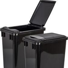 One Black Lid For 35 Quart Heavy Duty Kitchen Cabinet Trash Can Garbage Plastic