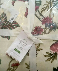Pottery Barn Resi Duvet Cover Ivory King Floral Palampore NIP!