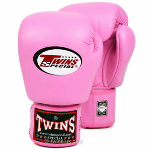 Twins BGVL-3 Leather Boxing Gloves Pink boxing Sparring Kickboxing Muay Thai