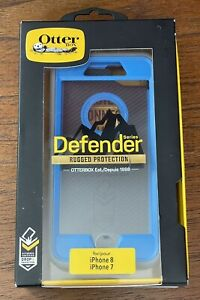 OtterBox Defender Series Case - iPhone 8 & iPhone 7 - Blue / Grey