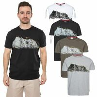 Trespass Cashing Mens Casual Summer Top Short Sleeve Shirt Black White Khaki
