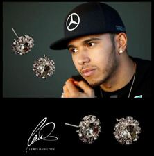 Men's Lewis Hamilton Oversized Bling Cubic Zirconia Crystal GEMSTONE Earrings