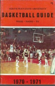 1970-71 AUSTIN PEAY STATE U. GOVERNORS BASKETBALL media guide, EXCELLENT