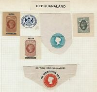 Bechuanaland Protectorate - 6 Victoria Cut Squares - Lot 041016