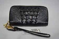 NWT! Brahmin Zoe Wallet/Wristlet in Black Melbourne Croc Embossed Leather