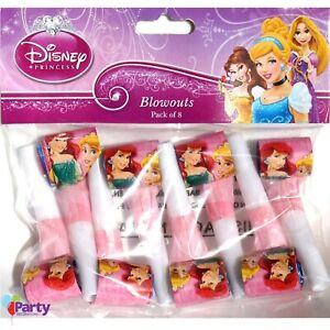Disney Princess Party Favours x 8 Birthday Blowers Horns Blowouts Supplies