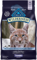 Blue Buffalo Wilderness High Protein Grain Free Natural Mature Dry Cat Food,