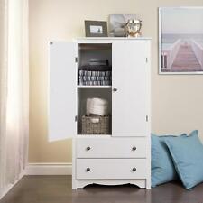 "Prepac Monterey 2 Drawer Armoire in White WDC-3359-K , 31.5""W x 58.75""H x 22"""