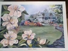 """Charleston's Magnolias"" Charleston water color print wedding/birthday Morris"