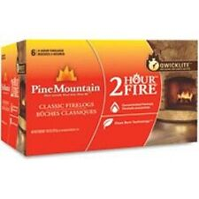 New Pine Mountain Case Of (6) 3.2Lb Firelogs 18Lb Case Burns 2 Hours 5678909