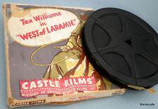 Castle Films 8 mm Tex Williams West Laramie Western Movie b/w 1949 boxed Vtg