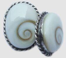Shiva eye Shell Earrings  Sterling silver