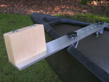 Canoe trolling motor mount - Aluminum / Hard Maple