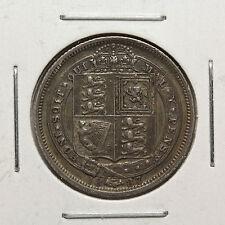 """1887 Six Pence """"JEB"""" - Great Britain - KM# 759 - EF - Key Date!"""