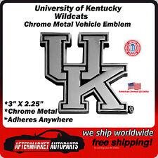 University of Kentucky Wildcats Chrome Metal Car Auto Emblem Decal Ships Fast
