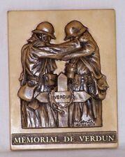 """Bas relief 1ère guerre mondiale """"La réconciliation - décoration murale en Pierre"""