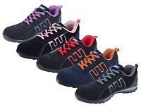 MEN SAFETY TRAINERS SHOES BOOTS WORK STEEL TOE CAP ANKLE  SIZE 3 - 13 UK NEW (W)