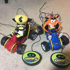 Rare 2000 Crash Bandicoot Remote Control Car Kart SET NEO CORTEX & CRASH Promo