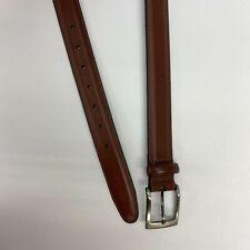 """Perry Ellis Work Belt Mens 36/90 Brown Full Grain Cowhide Leather Lined 44"""" Long"""