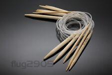 Rundstricknadel Wahl 2-10mm Stärke und Länge 80 cm Stricknadel Bambus