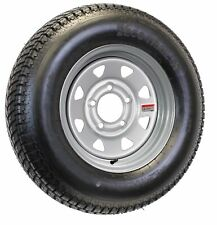 eCustomrim Radial Trailer Tire and Rim ST205/75R14 14X6 5-4.5 Silver Spoke Wheel