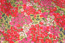 Packed   Floral  Chiffon Fabric Peony Flowers   Apparel  By the Yard   BFab