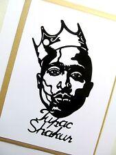"TUPAC SHAKUR Original Pop Art, 3""X 7"" inches 2pac Vinyl Decal Sticker Portrait."