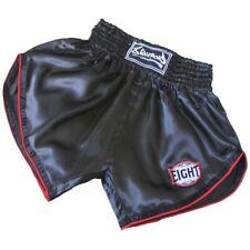 8 WEAPONS Muay Thai Shorts, Retro, schwarz-rot