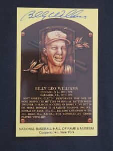 Guaranteed Authentic Billy Williams Autographed Gold Hall Of Fame Plaque HOF