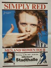 Simply Red 1987 Offenbach + ORIG. concert poster-concerto MANIFESTO a1 Top 147