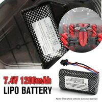 7.4V 1200mAh Lipo Battery Rechargeable Battery for RC GW124 Off-road Stunt Car