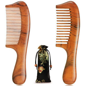 Premium Hair Combs Wooden Comb Natural Dalbergia Wood Handmade Sturdy Smooth