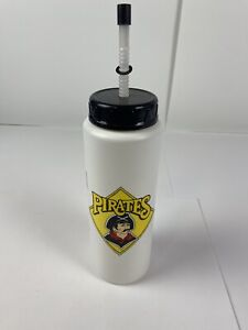 Vintage 1991 Pittsburgh Pirates Water Bottle Cup Betras MLB White Old Logo