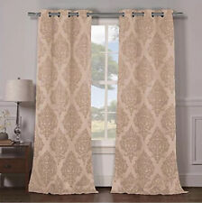 Duck River Catalina Grommet Pair Champagne Damask 84""