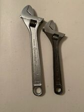 """GENUINE CRESCENT CRESTOLOY STEEL  8"""" and 6"""" ADJUSTABLE WRENCH LOT"""