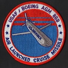 AIR LAUNCHED CRUISE MISSILE - USAF DOD BOEING AGM 86B WEAPONS - ORIGINAL PATCH