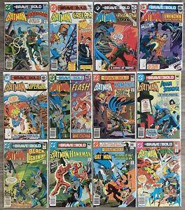 DC Comics Bronze Age Lot - Batman Brave and the Bold 142 143 151 157 161 163 178