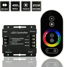 Wireless Touch Panel RF Remote Controller Dimmer for RGB LED Strip Light UK