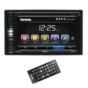 """SoundStorm Double-DIN 6.2"""" Touchscreen Bluetooth DVD Player & Monitor   DD664B"""