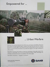 8/2006 PUB SAAB BOFORS DYNAMICS MBT MAN PORTABLE WEAPON SYSTEM URBAN WARFARE AD