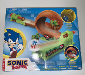 Classic Sonic The Hedgehog Pinball Track Set w/ Exclusive Sonic Character Figure