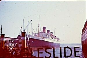 RMS QUEEN MARY SOTON ORIGINAL KODACHROME COLOUR SLIDE WITH COPYRIGHT