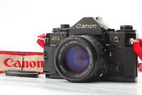[N, MINT-] Canon A-1 Black 35mm SLR w/ NEW fd 50mm f1.4 + strap from Japan