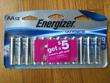 Energizer Ultimate Lithium AA Batteries 12 Pack Exp. 2037 20 year shelf life!!!