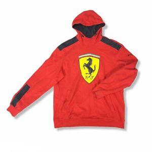 Puma SF Scuderia Ferrari Hoodie Sweatshirt Men's Size 2XL Grey Red EUC
