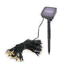 Solar Lichterkette 100 LED warmweiß Solarleuchte Solarlampe Außen, esotec 102354